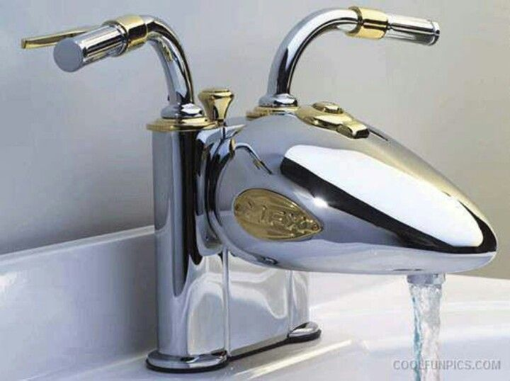 Harley Davidson sink :) thinking about this for the man cave...