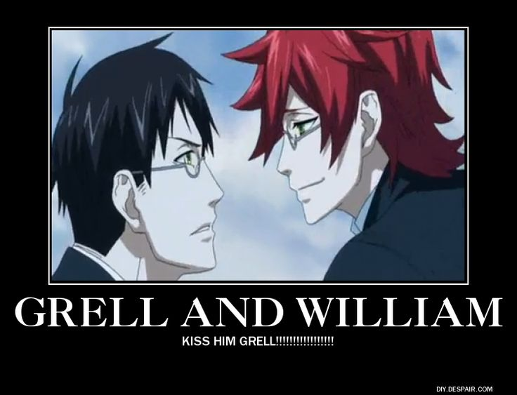 grell sutcliff x william t spears black butler