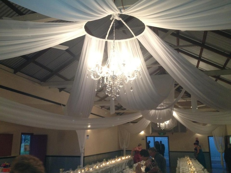 The reception roof, love my draping!