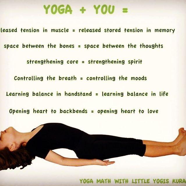 Yoga equals .... #yogamath #yoga #yogini #kidsyoga #yogakids #fishpose #heartopener #asana #play #lifeskills #yogalifestyle #yogalife #strongself #benddontbreak #choice #fun #yogatime #matsyasana