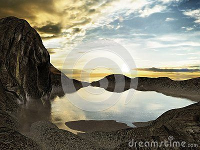 Fantasy Landscape - Download From Over 40 Million High Quality Stock Photos, Images, Vectors. Sign up for FREE today. Image: 64690839