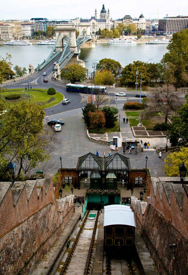 Budavári Sikló (Budapest Castle Hill Funicular) | 29 Places That Prove Budapest Is The Most Stunning City In Europe
