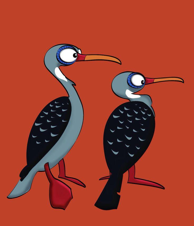 Red legged cormoran