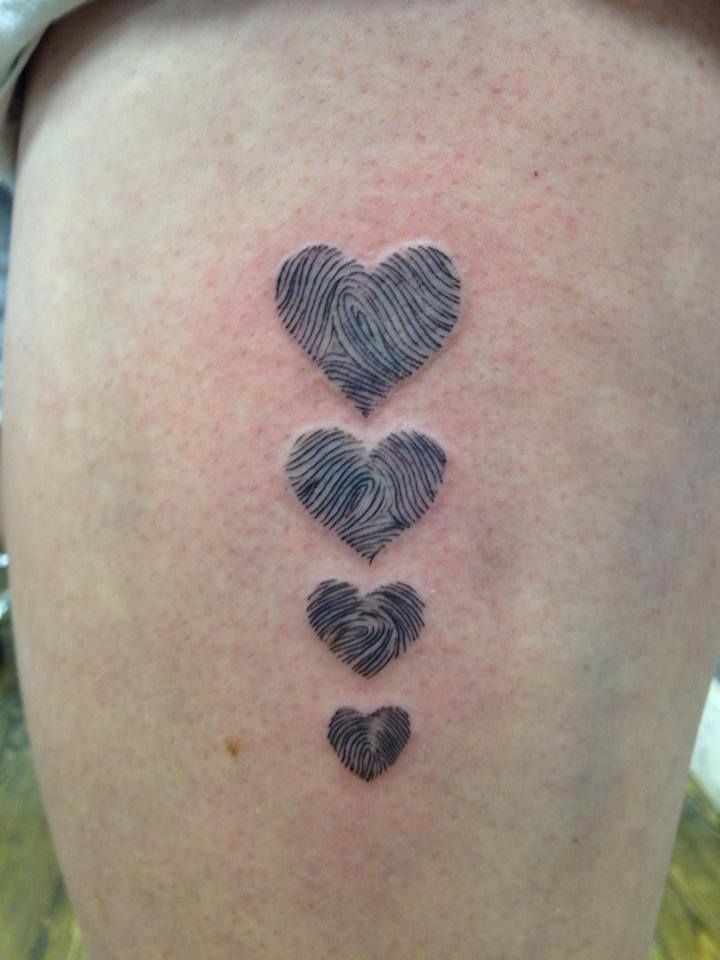 Would love to do mine and Mason's finger print in a heart! How cool!