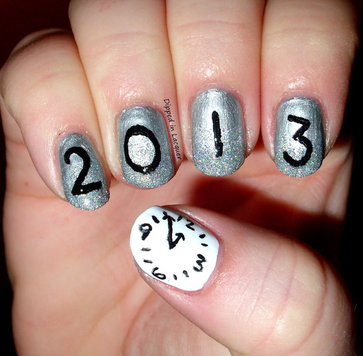 New years Nails, just change the date of course :)  Totally going to do this for this 2014 new years@! #cantwait