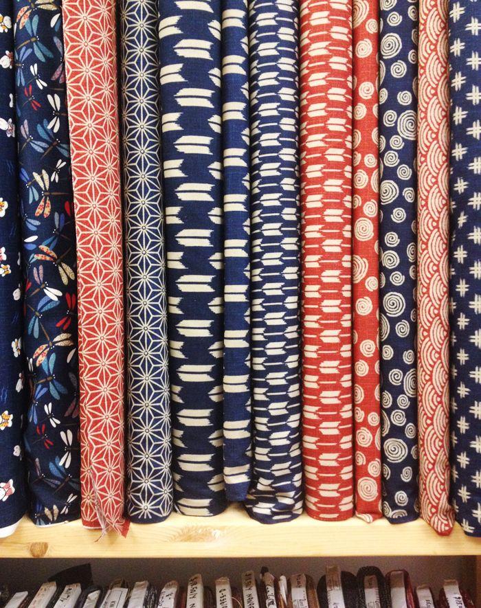 Beautiful Japanese fabrics from Momen+