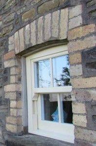 Traditional timber look uPVC sash windows #sashwindows