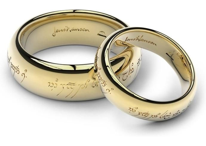 Wedding Ring The Elvish Engraving Says One Ring To Show Our Love One Ring To Bind Us One Ring To Seal Our Love And Fore One Ring Gold Rings Silver Tungsten