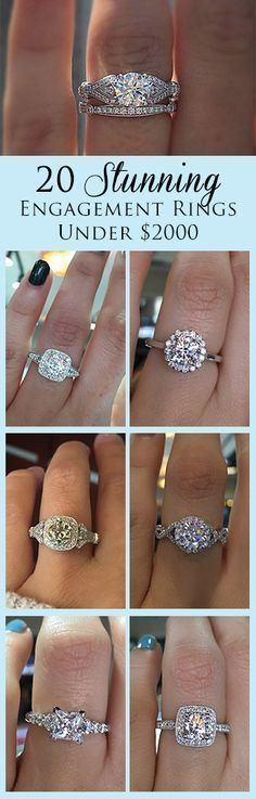 20 Amazing Engagement Rings Under 2000 Dollars from Gabriel & Co.