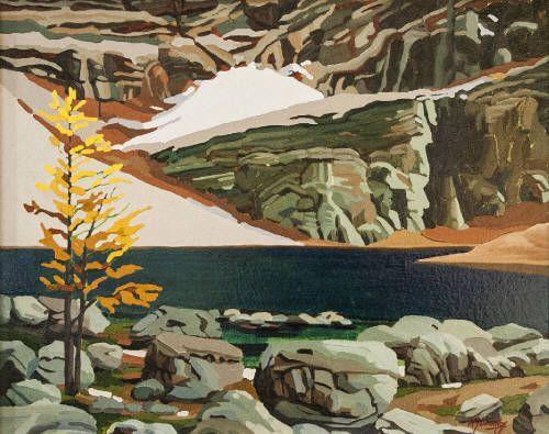 "WJ Bradley SOLITUDE / Canada House Gallery - oil, canvas 16"" x 20"""
