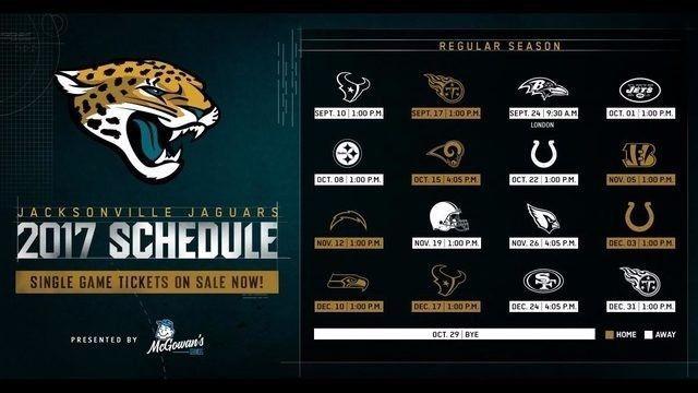 2017 18 Jacksonville Jaguars Nfl Football Schedule Fridge Jaguars Raiders Highlights Tickets Nfl Football Schedule Jacksonville Jaguars Nfl Football