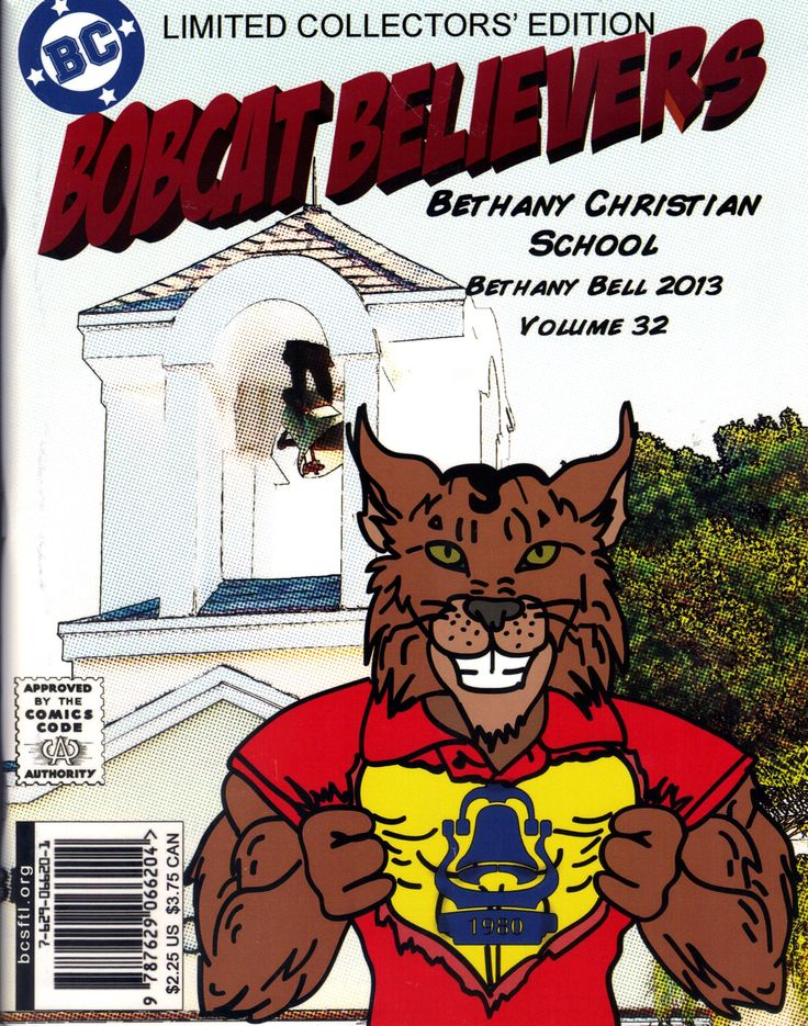 Bethany Christian School Yearbook with a comic book flavor to it.
