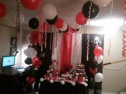 40th birthday red and black decorations for a man - Google Search