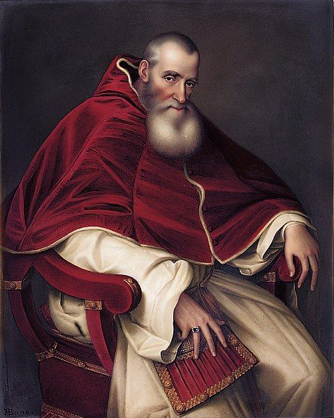 Alessandro Farnese (1468-1549), Pope Paul III (1534-49) by Henry Bone after Titian.198х156см. enamel and dated'Pope Paul the third London May 1810 Painted by Henry Bone ARA. Enamel Painter in Ordinary to His Majesty and Enamel Painter to His R.H.the Prince of Wales after Titian'. Christie's,