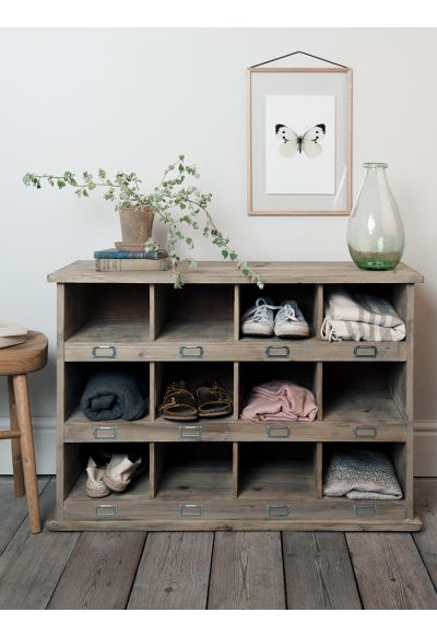 Large Wooden Box Unit - Storage