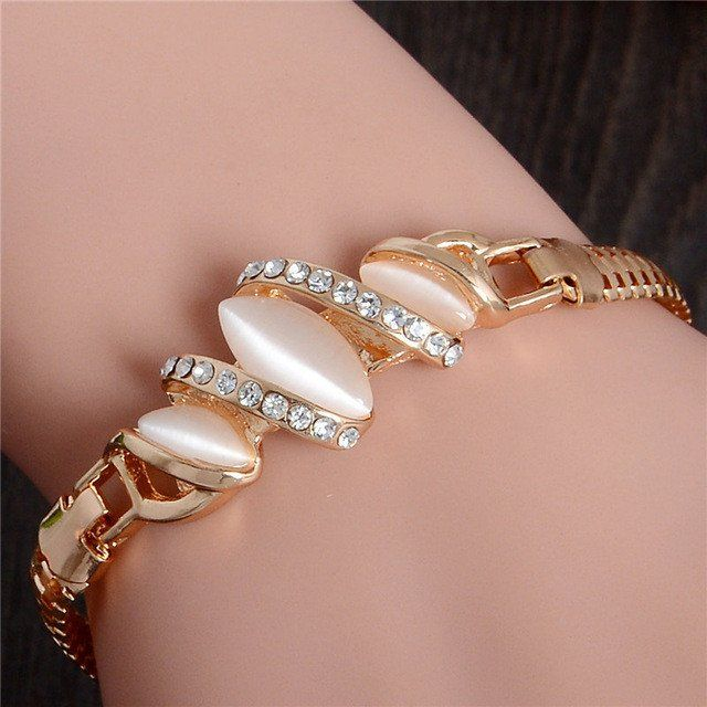 Gold Plated Cat Eye Bracelet – Ladore & You.