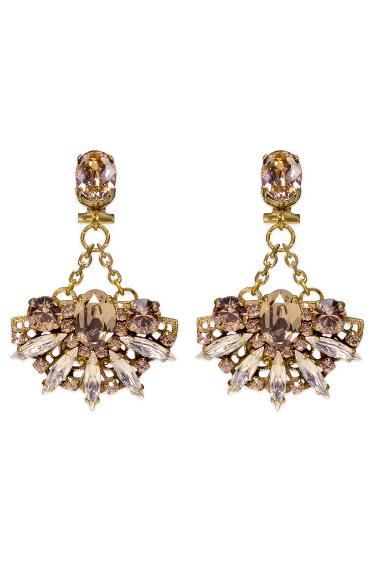 Lotus Pendant Earrings by Anton Heunis at $30 | Rent The Runway