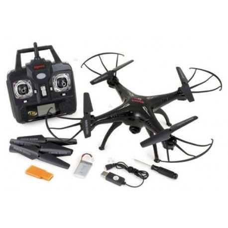 Quadracopter dron Syma ULTRA  Posiada zamontowaną kamerę.  Częstotliwość 2,4GHz. Zasięg do 50m. Rozdzielczość 2Mpx.     CECHY:   - Lot 4 Kanałowy: sterowanie odbywa się w płaszczyźnie 3D   - Tryb headless   - akumulator litowo - polimetrowy   - efektywny zasięg ok. 50m   - czas lotu w zależności od obciążenia ok. 7 min   - czas ładowania ok. 100min   - rozdzielczość 2Mpx