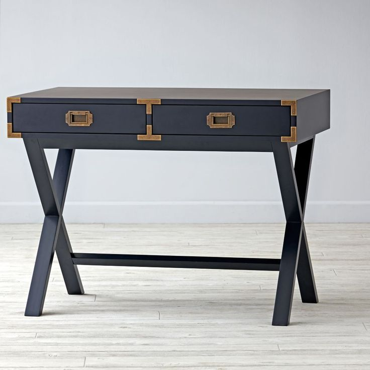 Shop Campaign Desk (Midnight Blue).  If you want a desk with a stylish design and an adventurous spirit, our Campaign Desk is the perfect candidate.