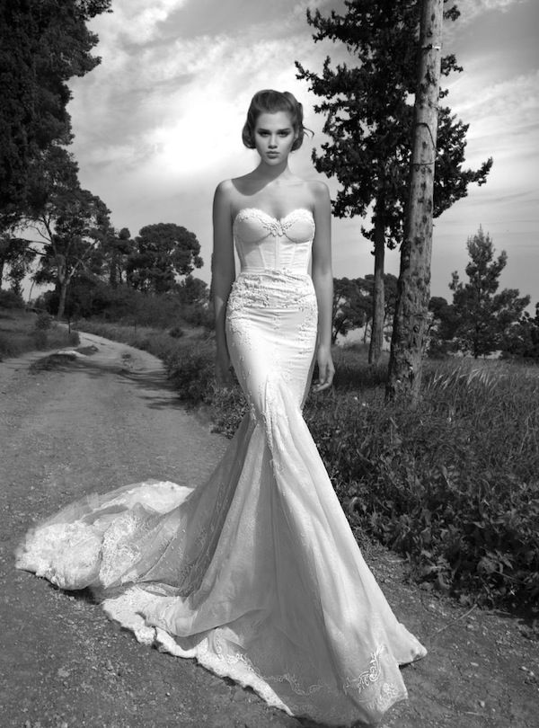 strapless sexy wedding dress - love the bodice! Inbal Dror 2013 Wedding Dress Collection via Bridal Musings