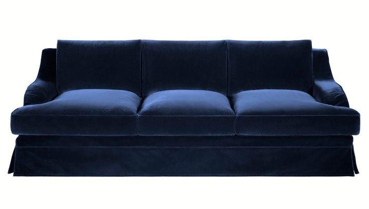 Blue Velvet Sleeper Sofa