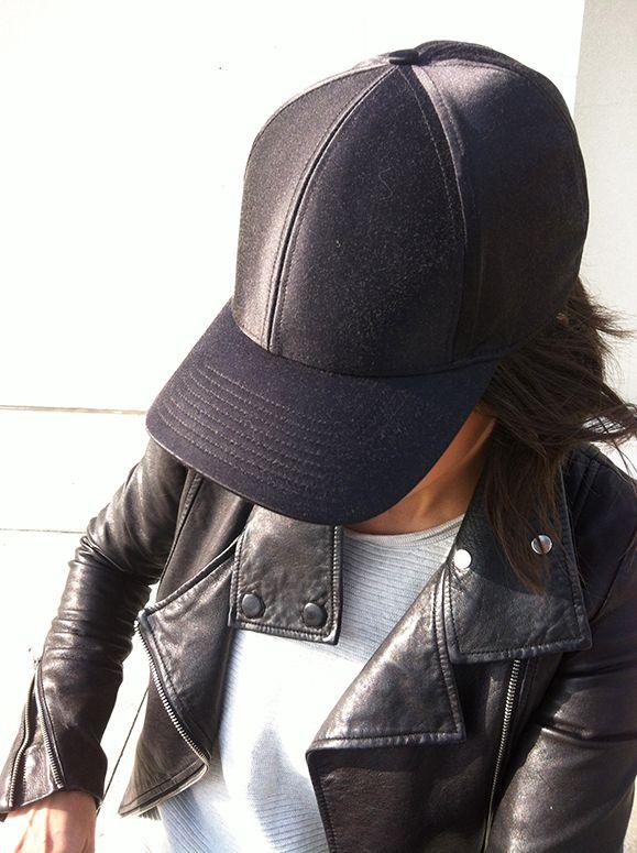 WoahStyle.com | Mackage leather jacket, Aritzia baseball cap and sweater