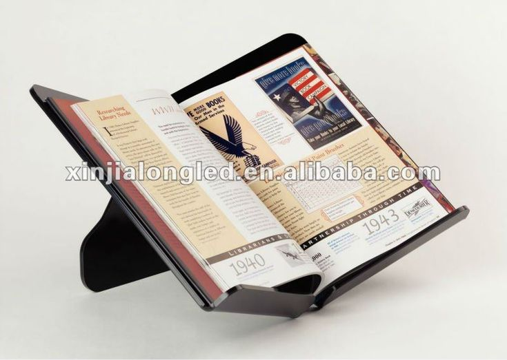 82660 Desktop Acrylic Open Book Displayer Display Stand Open Book Easel Open Book Rests Open Book Holder
