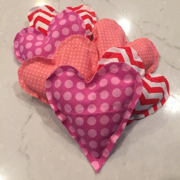 DIY Heart Shaped Hand Warmer/Ice Pack Made with Essential Oils