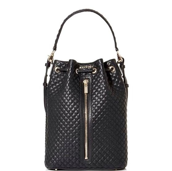 """Quilted faux leather bucket bag """"Dahn"""" available online. Discover all the FW16 accessories on www.mangano.com"""
