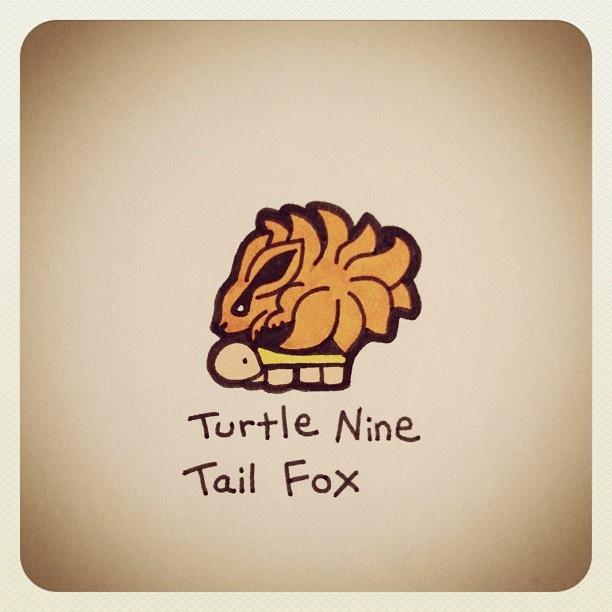 Turtle Nine Tail Fox #turtleadayjune - @turtlewayne- #webstagram