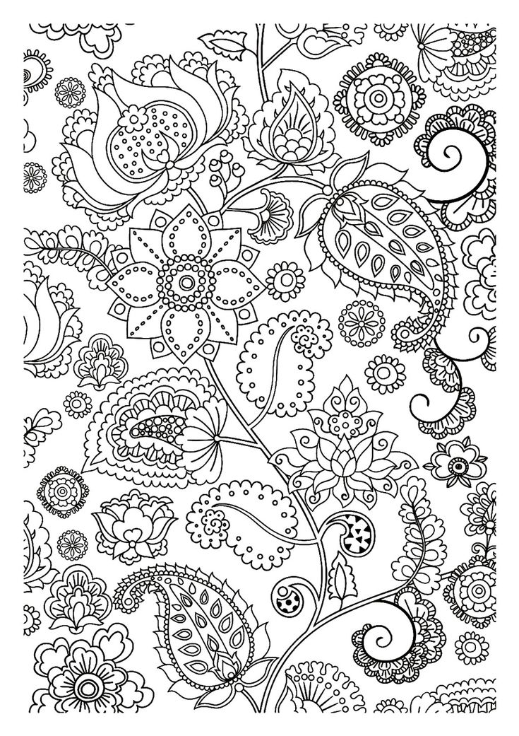 free coloring page coloring adult flowers zen pretty strange flowers letting you dreaming while coloring