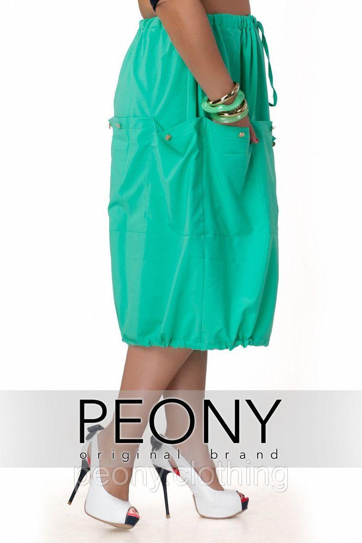 Юбка Манго (54 размер, зеленый) ТМ «PEONY» - Peony - женская одежда от производителя в Одессе