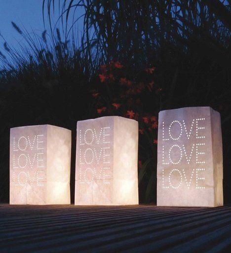Candle bags & light boxes op je bruiloft   Weddingdeco.nl