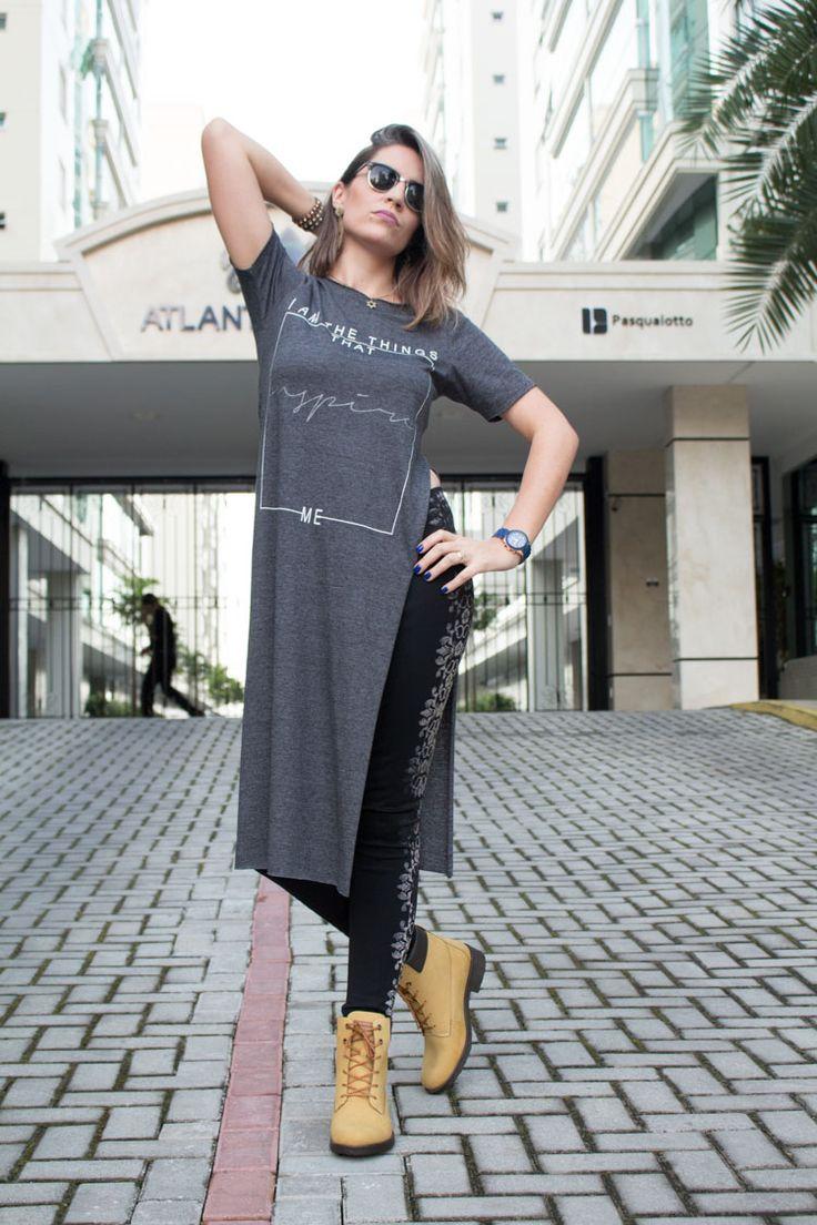 Look: Maxi t-shirt | Suelen Santos