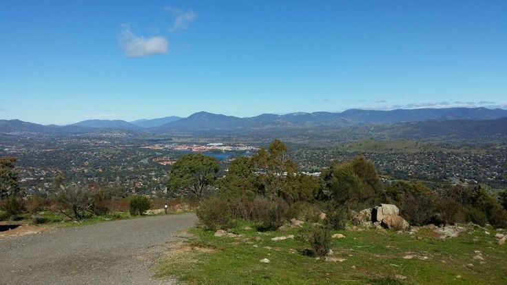 View of Tuggeranong from  Mt Taylor