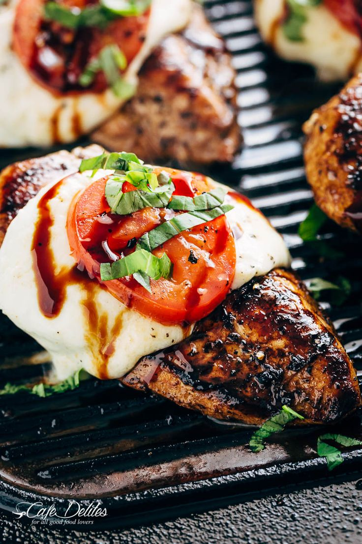 Grilled Chicken Caprese, with soft, creamy Buffalo Mozzarella slices will become a family favourite grilling recipe! A low carb lunch or dinner!