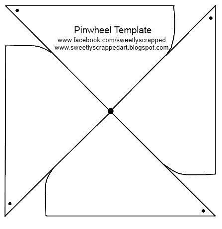 Here's a template to make your own pinwheels! Hope everyone is having a safe and fun holiday weekend!  Here's what I did with some pinwheels :)   You will bring the corners (with the dots) into...
