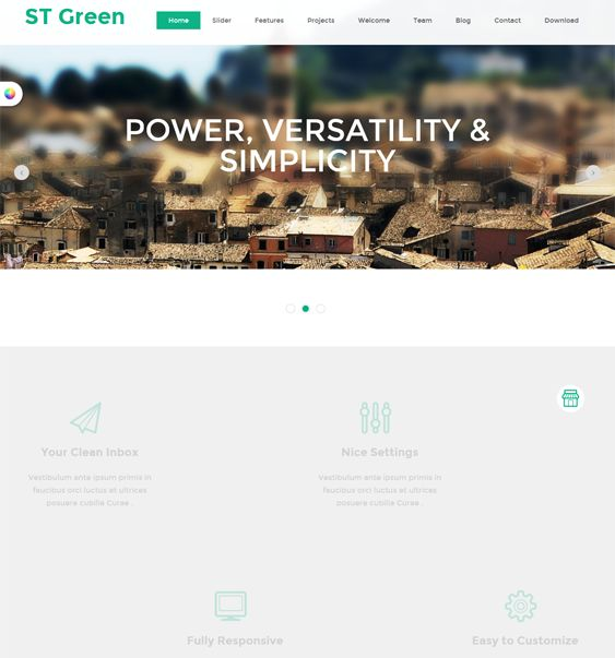 This free single page Joomla theme includes a clean design, parallax effects, a featured content slider, a responsive layout, and more.