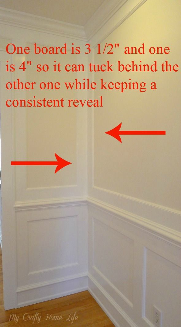 """(4) Another thing to consider is the corners. On an outside corner, you would need to take 1/2"""" off one of the boards. ~ callingithome.com"""