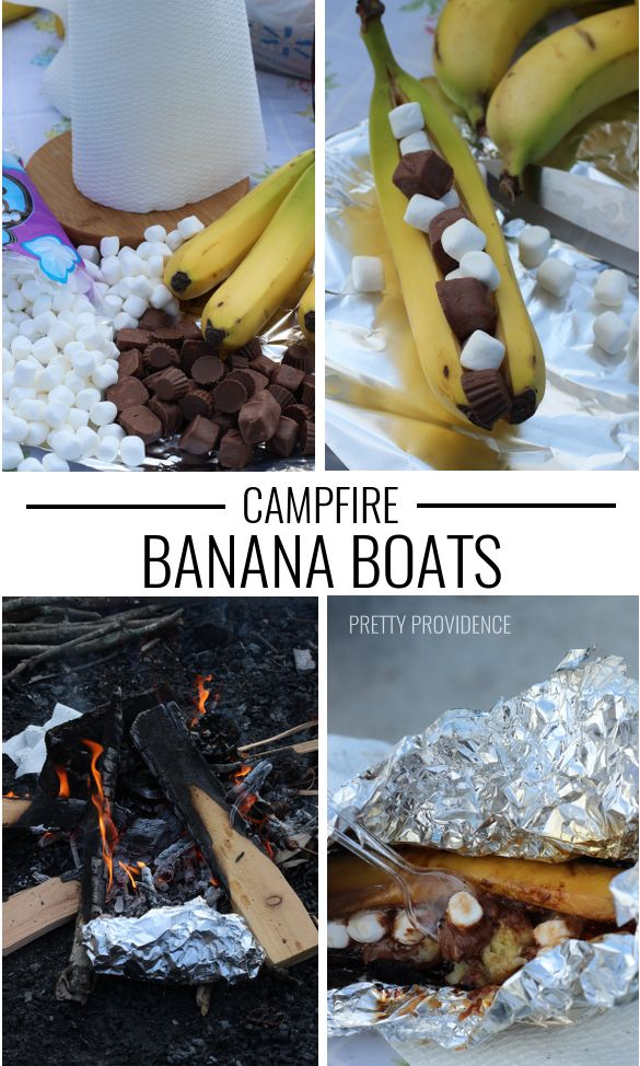 Banana Boats are the best campfire treat and a fun alternative to S'mores! Best treat for camping with the family!