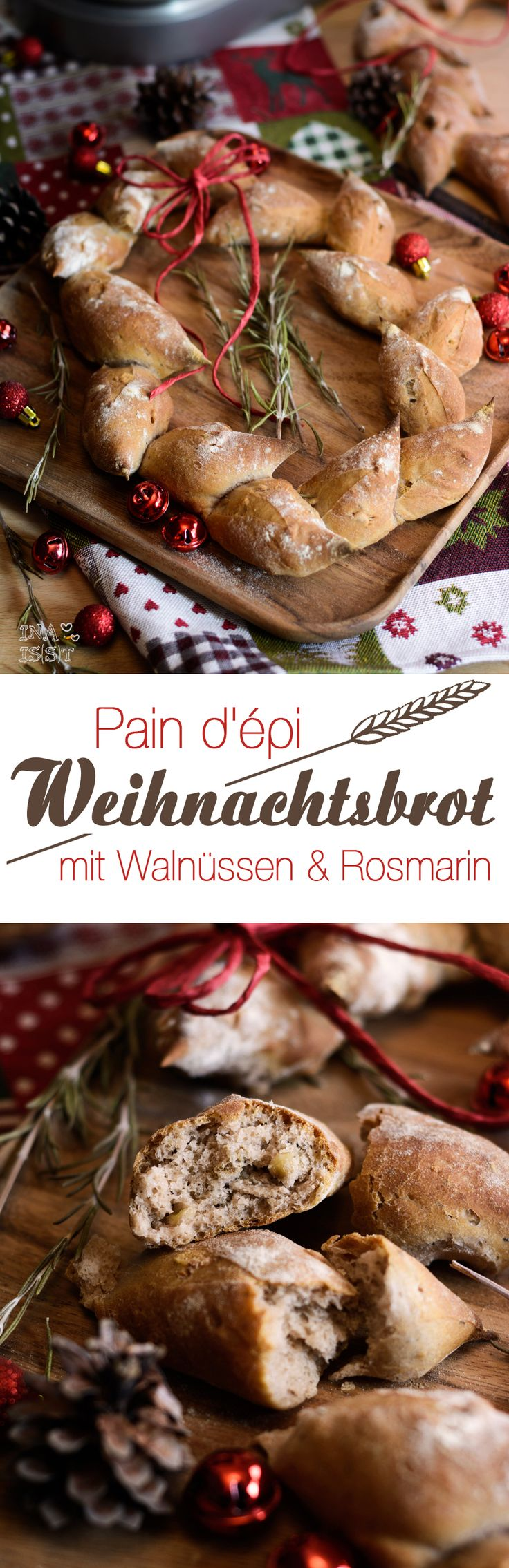 Pain d'épi - Weihnachtsbrot mit Walnüssen&Rosmarin /// Christmas bread with walnuts and rosemary