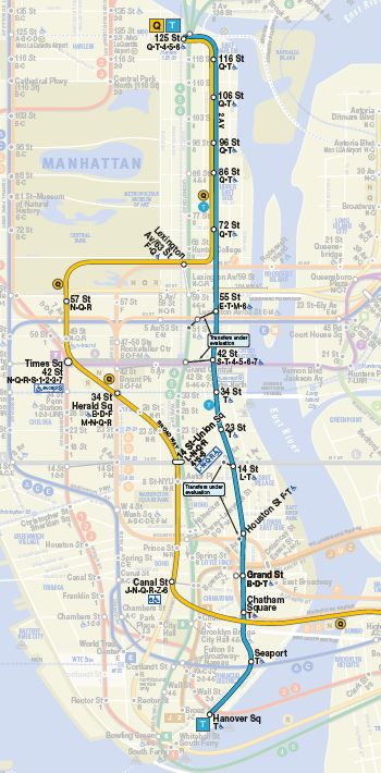 NYC is currently building a new subway line, the 2nd Avenue Subway. Est. completion in 2016. This line is LONG overdue and will serve neighborhoods on Manhattan's East Side.