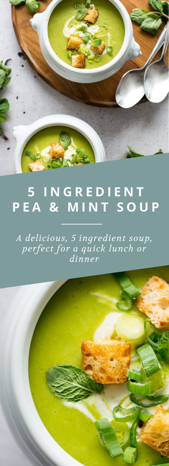 nice 5 Ingredient Pea and Mint Soup