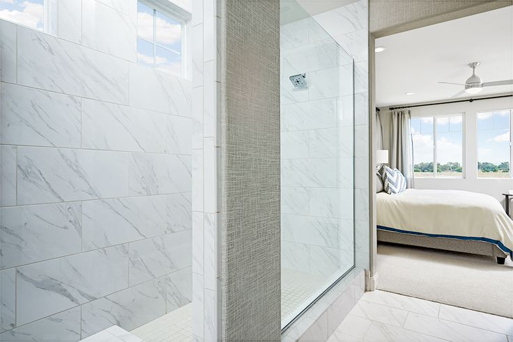 Smooth transition between bed and bath | Lynn model home | Oakley, CA | Richmond American Homes