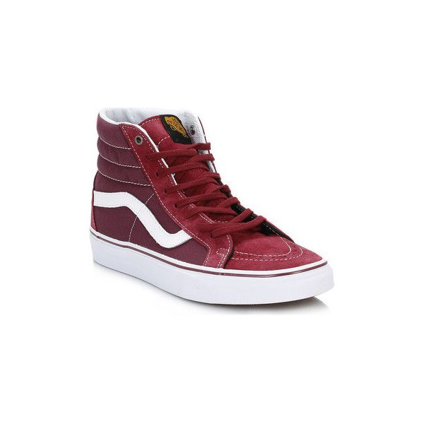 Vans Mens Port Royal SK8-Hi Reissue Trainers Shoes (High-top Trainers) (€76) ❤ liked on Polyvore featuring men's fashion, men's shoes, men's sneakers, high top trainers, men, red, shoes, mens red shoes, mens leather shoes and mens red high top sneakers