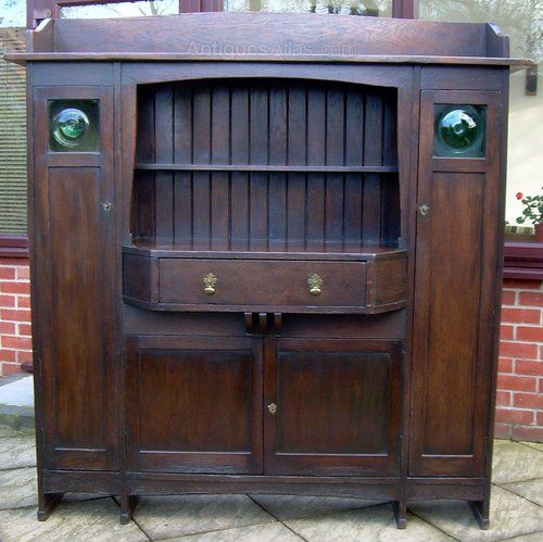 A Liberty' Oak Arts & Crafts Sideboard - Antiques Atlas