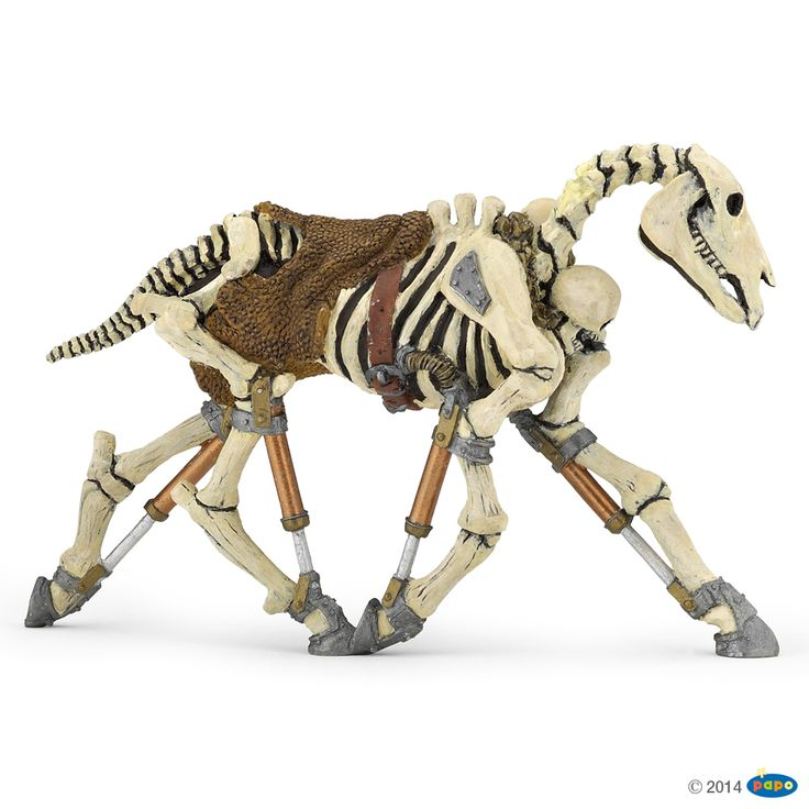 💝 Figurine Cheval squelette phosphorescent - Figurines LE MONDE FANTASTIQUE