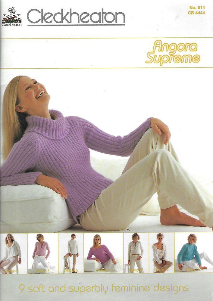 Women's Angora Supreme Cleckheaton 914 knitting pattern book 9 designs #Cleckheaton