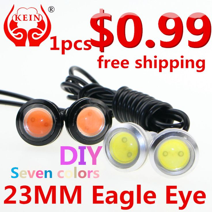 KEIN (R) 23MM The 1PCS car LED Eagle Eye DRL daytime running lights modified chassis lights license plate lamp car styling -- Find similar products by clicking the image