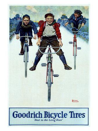 BF Goodrich Bicycle Tires  Norman Rockwell  Pneus de bicicleta BF Goodrich